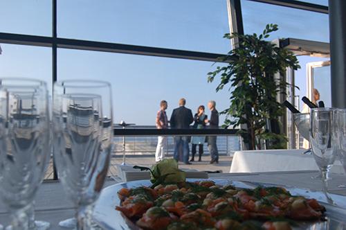 Utsikt uteplats Luftkastellet konferens Malmö